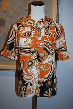 J.CREW Womens 3/4 Sleeve Floral Ruffled Neck Cotton Blouse Tunic Top Size  6