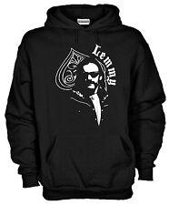 Felpa con cappuccio KJ911 Lemmy Kilmister Motorhead Ace of Spade Rock