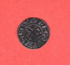 (Ref:F.93) MONNAIE FEODALE DENIER COMTE DE NEVERS MAHAUT II (1257-1267) RARE