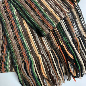 WILLIAM BRUNTON Hand Knit 100% Pure Lambswool Scarf Made In Scotland NWOT