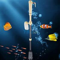Aquarium Electric Syphon Auto Fish Tank Water Vacuum Gravel Filter Pump Cleaner