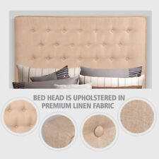 KING Size Bed Head Headboard Bedhead Upholstered Fabric for Base/Frame Beige