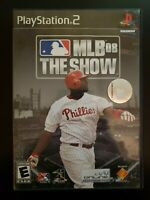MLB 08: The Show Sony PlayStation 2 WITH CASE & MANUAL BUY 2 GET 1 FREE