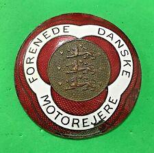 FORENEDE DANSKE MOTOREJERE - FEDERATION OF DANISH MOTORISTS - CAR GRILLE BADGE