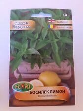 Lemon Basil Herb & Spice Vegetable apx. 1 gram Seeds Ocimum Basilicum