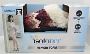 Isotoner memory foam slippers Chili Pepper size small (6.5-7), brand new. B403