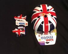Kiddimoto Union Jack Helmet & Gloves Child's Kids Bike Scooter Skate Bmx Cycle