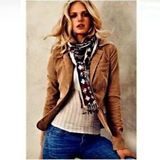 Ralph Lauren Sport Womens Corduroy Blazer Jacket Size 2 Tan