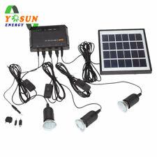 8W Solar Powered Licht Set LED 36 Lampen Garten Außen Home System Kit 5V Ausgabe