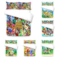Animal Crossing 3PCS Bedding Set Quilt Duvet Cover Pillowcase Comforter Cover