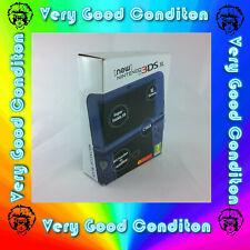 Nintendo New 3DS XL Metallic Blue Handheld System 11.0.0-26E Complete - Very Goo