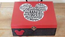 Personalised Disneyland/ World memories box Keepsakes box Disney reveal box