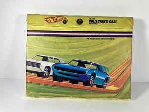 vintage Hot Wheels 1968 24 Car Collector's Case with a few original Redline cars