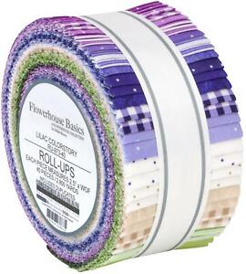 "Robert Kaufman Flowerhouse Basics Jelly Roll Fabric Lilac 40 2.5x44"" Strips"