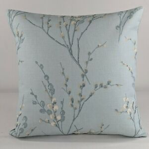 """Laura Ashley Pussy Willow Duck Egg Cushion Cover Reverse plain 18""""x18"""""""