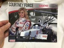 COURTNEY FORCE Signed Autographed NHRA Top Alcohol Dragster 8x 10 Bio Photo