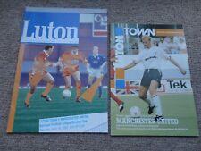 LUTON TOWN vs MAN Utd MANCHESTER UTD 1990 1992 football programme JOB LOT