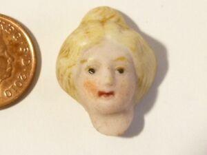 Antique Bisque Porcelain Half Head Art Deco  / Pin Cushion Dolls House #D5 *