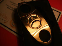 24Ct Gold Plated Metal Cohiba Cigar Cutter Pocket Guillotine Gift Boxed 24k
