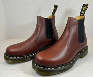 NEW Dr. Martens 2976 Smooth Leather Chelsea Boot Cherry Red US Men 7 Womens 8