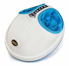 Foot Massager w/ Heat Kneading Shiatsu Rolling 3-D Air pressure massage si19 866