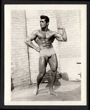 SLICK ELVIS HAIR RIPPED HOT PRO BODY-BUILDER MUSCLE MAN  1960s VINTAGE PHOTO gay