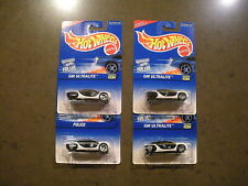 Hot Wheels Lot of (4) Different GM Ultralite Police Cars Collector #594