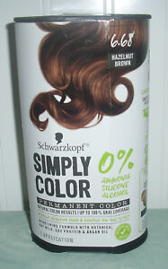 Schwarzkoph Simply Color ~ Permanent Hair Color 6.68 Hazelnut Brown 0% Ammonia