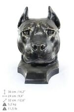 American Staffordshire Terrier, dog head urn made of Resin, ArtDog, Usa