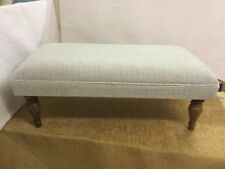 "Footstool upholstered in Laura Ashley ""Etienne Duck egg"" Large CHOOSE YOUR LEGS"