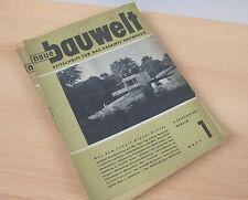 neue bauwelt - Zeitschrift für das gesamte Bauwesen - 36 Hefte von 1949 1 bis 33