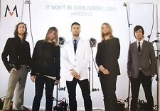 "Maroon 5 ""It Won'T Be Soon Before Long"" Asian Poster-Adam Levine In White Jacket"