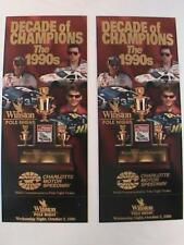 Lot of (2) 1996 Charlott Motor Speedway Decade Of Champions Commemorative Ticket