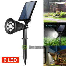 6 LED Solar Garden Lamp Spot Light Outdoor Lawn Landscape Spotlight Lighting New