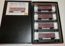 Micro Trains N Scale Missouri Pacific Four Car Runner Pack #993 00 141 NIB