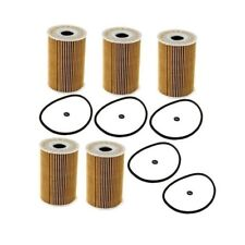 Set of 5 Oil Filters Mahle OX380D For Mercedes W164 W166 W211 W212 R251 Sprinter