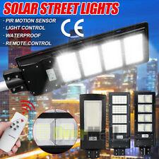 250W LED Solar Street Light Motion Sensor Dusk-Dawn+Remote+Pole Outdoor Lighting
