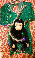 "MONKEY  DRESS "" UGLY "" Tacky Christmas sweater WOMENS MEDIUM  L@@K"