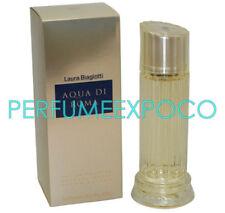 LAURA BIAGIOTTI AQUA DI ROMA Perfume WOMAN 100ml EDT SPRAY *DISCONTINUED* BK31