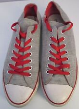 VTG Unisex Chuck Taylor CONVERSE Grey/Red Double Layer Lo Trainer/Shoe Size 9