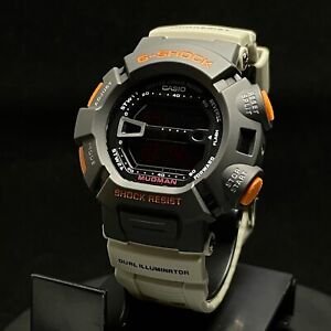 CASIO G9000MS-1 CUSTOM G-Shock 200M Special Gray Tan & Orange color - US Seller