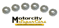 1960-79 All GM Pontiac Olds Buick Chevy Fender Emblem Speed Nuts Smooth Edge 6Pc