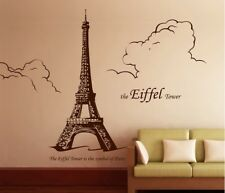 The Eiffel Tower Removable Wall stickers Decal  Decor Home Mural Art