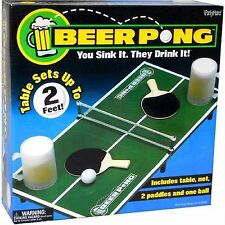 ICUP Beer Pong Drinking Game - Includes table, net, ball, 2 paddles - Fun Game