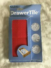 "Drawer Liner Made Smart Drawer Tile 12 Tiles Fits 12"" x 16"" Drawer Red Non Slip"