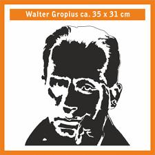 WALTER GROPIUS Wandtatoo, ca. 35 x 30 cm, Hochleistungsfolie mit Montagepapier
