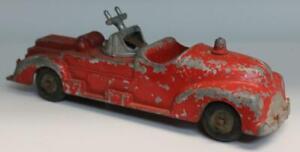 """Hubley Kiddie Toy 463 Fire Truck 7 1/4"""" Long"""
