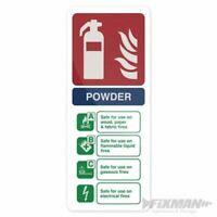 Fixman Dry Powder Fire Extinguisher Sign 202 x 82mm PL 350421