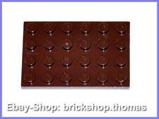 Lego Platte Grundplatte braun (4 x 6) - 3032 - Reddish Brown Plate - NEU / NEW