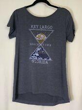 Women's NWT Ouray Key Largo Fl Beach Time Criss Cross Back T-Shirt Size M